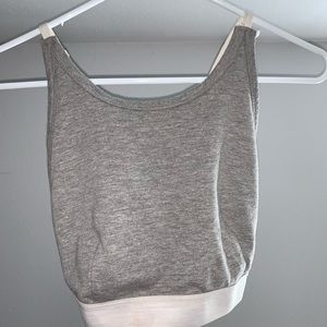 Cropped tight shirt - bralette like